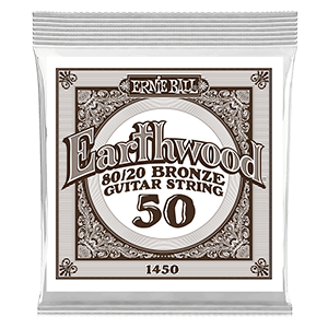 .050 Earthwood 80/20 Bronze Acoustic Guitar Strings 6 Pack Thumb