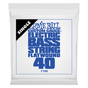 .040 Flatwound Electric Bass String Single Thumb