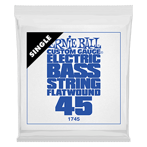 .045 Flatwound Electric Bass String Single Thumb