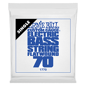 .070 Flatwound Electric Bass String Single Thumb