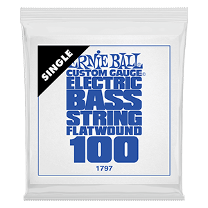 .100 Flatwound Electric Bass String Single Thumb