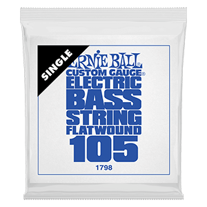 .105 Flatwound Electric Bass String Single Thumb