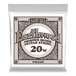 .020 Earthwood Phosphor Bronze Acoustic Guitar Strings 6 Pack Thumb