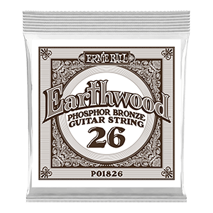 .026 Earthwood Phosphor Bronze Acoustic Guitar Strings 6 Pack Thumb