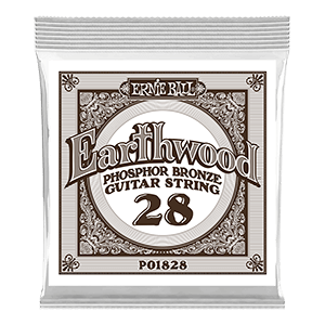 .028 Earthwood Phosphor Bronze Acoustic Guitar Strings 6 Pack Thumb