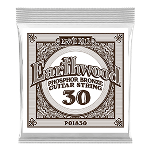 .030 Earthwood Phosphor Bronze Acoustic Guitar Strings 6 Pack Thumb