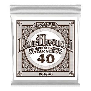 .040 Earthwood Phosphor Bronze Acoustic Guitar Strings 6 Pack Thumb