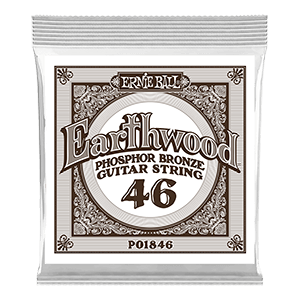 .046 Earthwood Phosphor Bronze Acoustic Guitar Strings 6 Pack Thumb