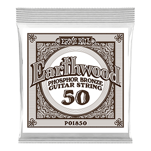 .050 Earthwood Phosphor Bronze Acoustic Guitar Strings 6 Pack Thumb