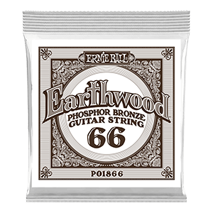 .066 Earthwood Phosphor Bronze Acoustic Guitar Strings 6 Pack Thumb