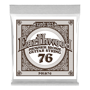 .076 Earthwood Phosphor Bronze Acoustic Guitar Strings 6 Pack Thumb