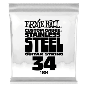 .034 Stainless Steel Wound Electric Guitar Strings 6 Pack Thumb