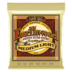 Earthwood Medium Light 80/20 Bronze Acoustic Guitar Strings - 12-54 Gauge Thumb