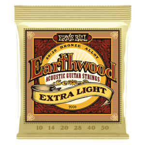 Earthwood Extra Light 80/20 Bronze Cordes pour Guitare Folk Thumb