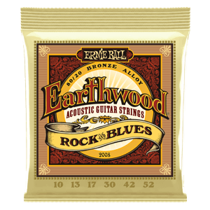 Earthwood Rock and Blues 80/20 Bronze Jeu de Cordes avec Sol Lisse pour Guitare Folk Thumb