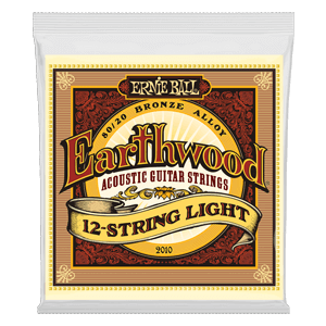 Earthwood Light 80/20 Bronze Jeu de 12 Cordes pour Guitare Folk Thumb