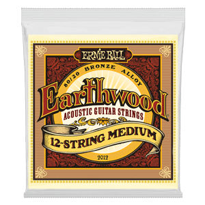 Earthwood Medium 80/20 Bronze Jeu de 12 Cordes pour Guitare Folk Thumb