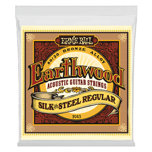 Earthwood Silk & Steel Regular 80/20 Bronze Acoustic Guitar Strings - 13-56 Gauge Thumb