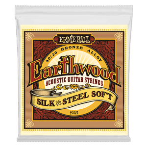 Earthwood Silk & Steel Soft 80/20 Bronze Cordes pour Guitare Folk Thumb