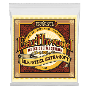 Earthwood Silk & Steel Extra Soft 80/20 Bronze Acoustic Guitar Strings - 10-50 Gauge Thumb