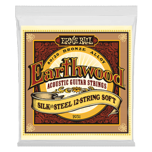 Earthwood Silk & Steel Soft 80/20 Bronze Jeu de 12 Cordes pour Guitare Folk Thumb