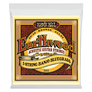 Earthwood 5-cuerdas para Banjo Bluegrass Loop End 80/20 Bronze Guitarra Acústica Thumb