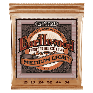 Earthwood Medium Light Phosphor Bronze Acoustic Guitar Strings - 12-54 Gauge Thumb