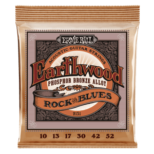Earthwood Rock and Blues Phosphor Bronze Cordes avec Sol Lisse pour Guitare Folk Thumb