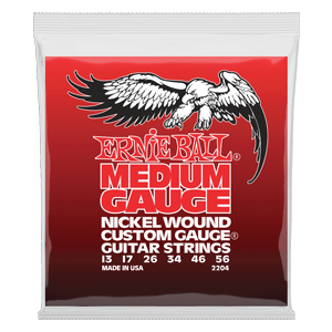 Medium Nickel Wound w/ wound G Electric Guitar Strings - 13-56 Gauge Thumb