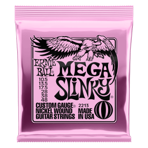 Mega Slinky Nickel Wound Electric Guitar Strings - 10.5-48 Gauge Thumb