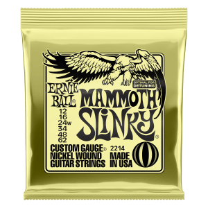 Mammoth Slinky Nickel Wound Electric Guitar Strings - 12-62 Gauge Thumb