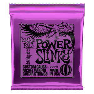 Power Slinky Nickel Wound Electric Guitar Strings - 11-48 Gauge Thumb