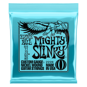 Mighty Slinky Nickel Wound Electric Guitar Strings 8.5 - 40 Gauge Thumb