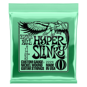 Hyper Slinky Nickel Wound Electric Guitar Strings 8 - 42 Gauge Thumb