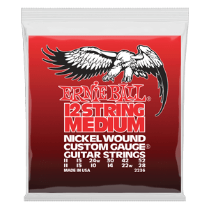 Medium 12-String Nickel Wound Electric Guitar Strings - 11-52 Gauge Thumb