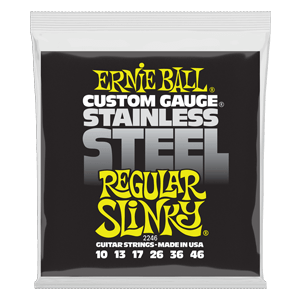 Regular Slinky Stainless Steel Wound Electric Guitar Strings - 10-46 Gauge Thumb