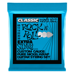 Extra Slinky Classic Rock n Roll Pure Nickel Wrap Electric Guitar Strings - 8-38 Gauge Thumb