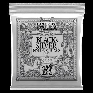 Ernesto Palla Black & Silver Nylon Cordes pour Guitare Classique Thumb