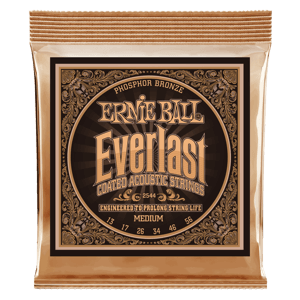 Everlast Medium Coated Phosphor Bronze Akustik-Gitarrensaiten Thumb