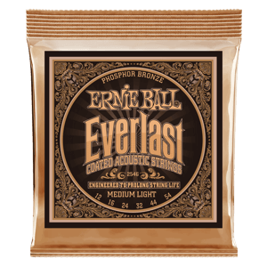 Everlast Medium Light Coated Phosphor Bronze Acoustic Guitar Strings - 12-54 Gauge Thumb