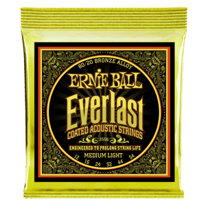 Everlast Medium Light Coated 80/20 Bronze Akustik-Gitarrensaiten Thumb