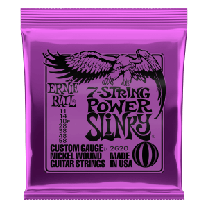Power Slinky 7-String Nickel Wound Electric Guitar Strings - 11-58 Gauge Thumb