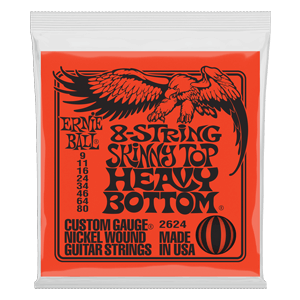 Skinny Top Heavy Bottom Slinky 8-String Electric Guitar Strings - 9-80 Gauge Thumb