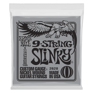 Slinky 9-String Nickel Wound Electric Guitar Strings - 9-105 Gauge Thumb