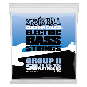 Flatwound Group II Electric Bass Strings - 50-105 Gauge Thumb