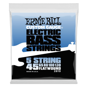 Flatwound 5-string Electric Bass Strings - 45-130 Gauge Thumb