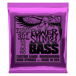 Power Slinky Nickel Wound Electric Bass Strings - 55-110 Gauge Thumb