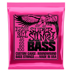 Super Slinky Nickel Wound Electric Bass Strings - 45-100 Gauge Thumb