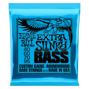 Extra Slinky Nickel Wound Electric Bass Strings - 40-95 Gauge Thumb