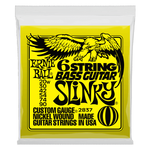 Slinky 6-String w/ small ball end 29 5/8 scale Bass Guitar Strings - 20-90 Gauge Thumb